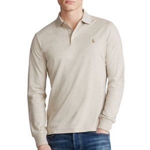 POLO Ralph Lauren Oatmeal Heather Long Sleeve Polo